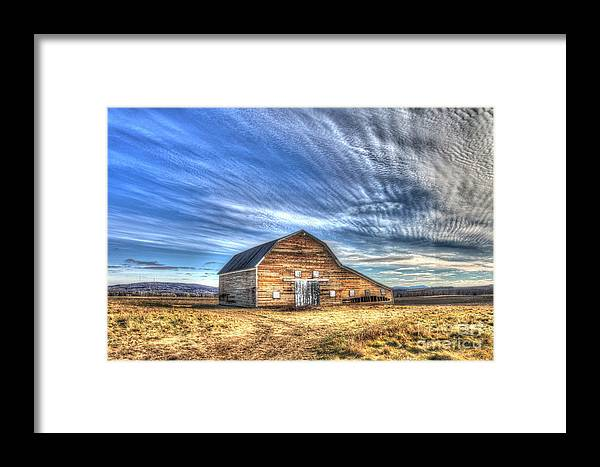 Old Barns Framed Print featuring the photograph Almost The Past by Brenda Ketch