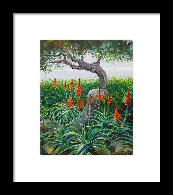Botanical Framed Print featuring the painting Aloe Vera by Karen Doyle