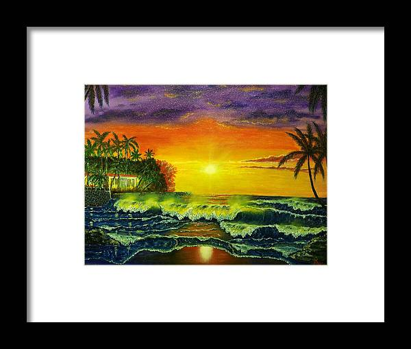 Landscape Framed Print featuring the painting Aloha by Charles Vaughn