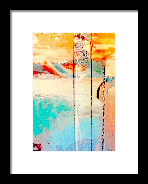 Guitar Framed Print featuring the mixed media Alone Together by Bill Solley