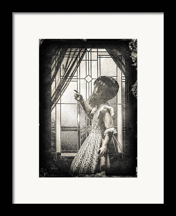 Little Miss Muffet Framed Print featuring the photograph Along Came A Spider by Bob Orsillo