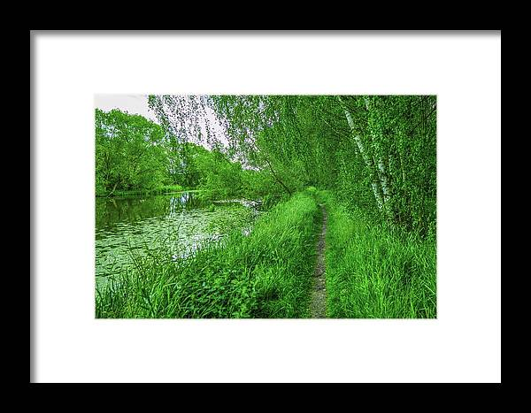 Creek Framed Print featuring the photograph Along Creek #g1 by Leif Sohlman