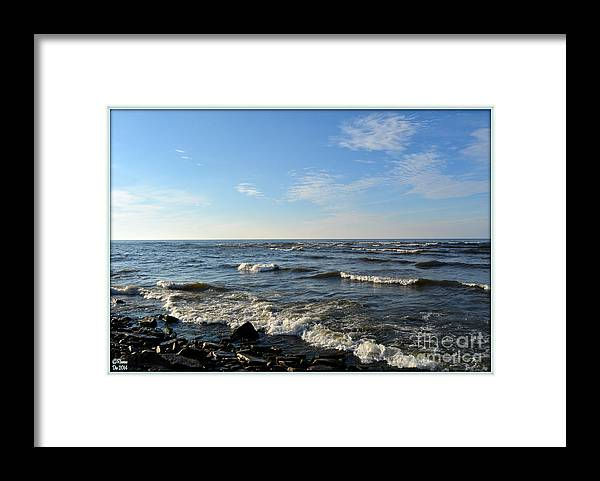 Landscape Framed Print featuring the photograph Along Lake Ontario by Rennae Christman