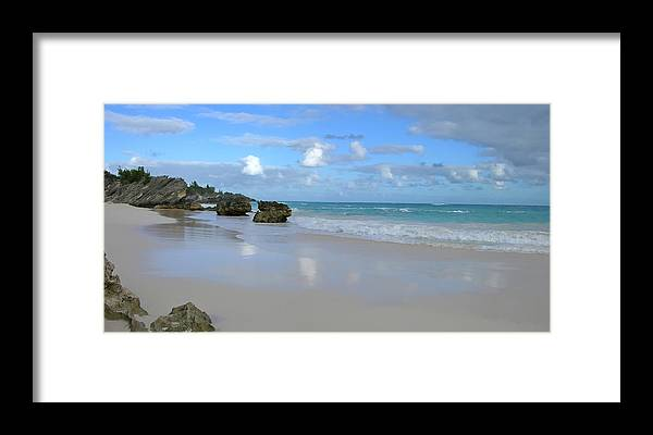 Atlantic Framed Print featuring the photograph Along The Beach by Mary Lane