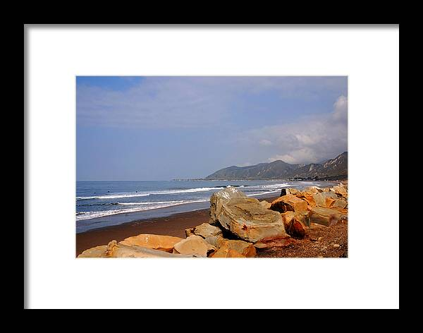 West Coast Framed Print featuring the photograph Along The Californian Coast by Susanne Van Hulst