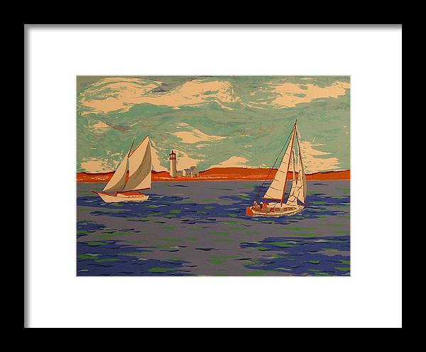 Framed Print featuring the print Along The Coast by Biagio Civale