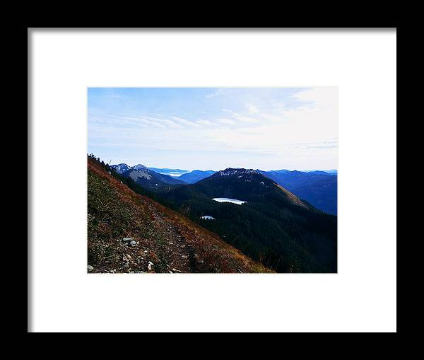 Landscape Framed Print featuring the photograph Along The Mt Defiance Trail by Kenneth Willis