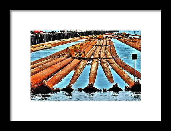 Pipes Framed Print featuring the photograph Along The River by William Jones