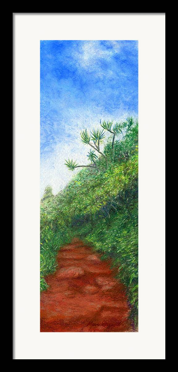 Coastal Decor Framed Print featuring the painting Along The Trail by Kenneth Grzesik
