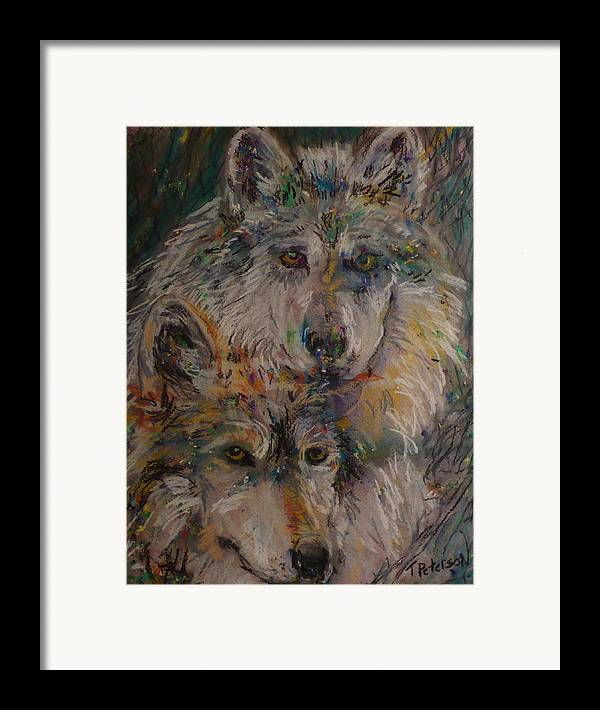 Painting Framed Print featuring the painting Alpha Pair by Todd Peterson