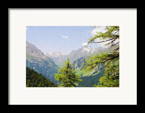 Alpine Framed Print featuring the painting Alpine Altitude by Jeff Kolker