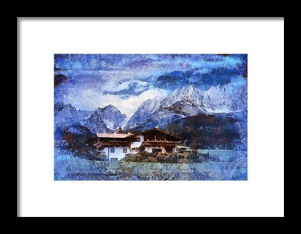 Swiss Alps Framed Print featuring the photograph Alpine Bliss by Mario Carini