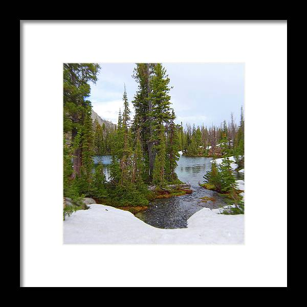 Idaho Framed Print featuring the photograph Alpine Lake Area by Dan Dixon