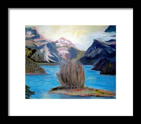 Alps Framed Print featuring the painting Alpine Lake by Lia Marsman