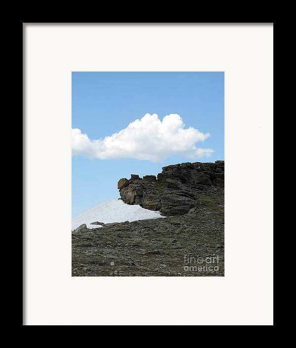 Rocky Mountains Framed Print featuring the photograph Alpine Tundra - Up In The Clouds by Amanda Barcon
