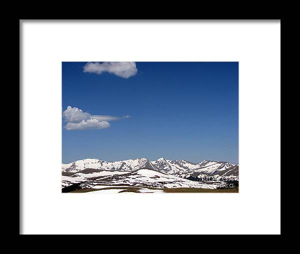 Mountains Framed Print featuring the photograph Alpine Tundra Series by Amanda Barcon