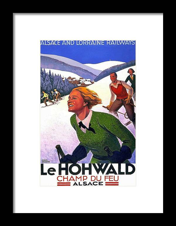 Alsace Framed Print featuring the painting Alsace, Lorraine Railways, France by Long Shot