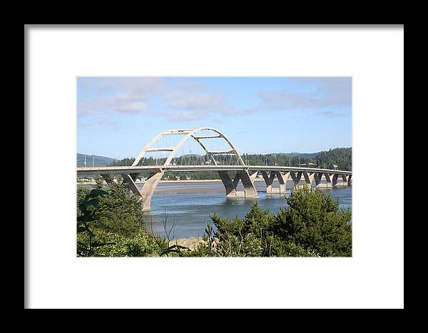 Alsea Framed Print featuring the photograph Alsea Bridge Br 7002 by Mary Gaines