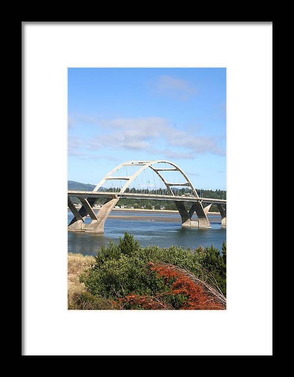 Alsea Framed Print featuring the photograph Alsea Bridge II Br-7005 by Mary Gaines