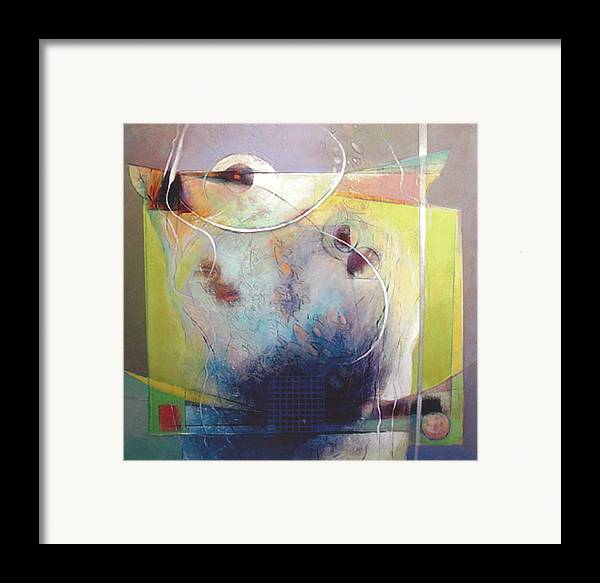 Abstract Framed Print featuring the painting Altar by Dale Witherow