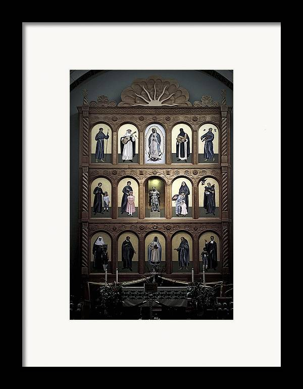 Church Framed Print featuring the photograph Altar Screen Cathedral Basilica Of St Francis Of Assisi Santa Fe Nm by Christine Till