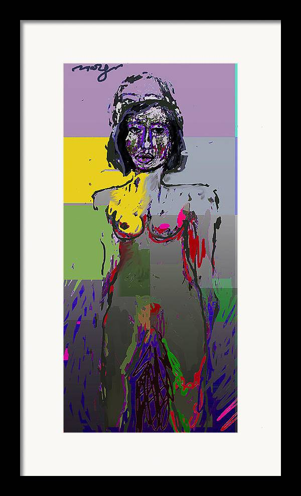 Woman Framed Print featuring the painting Altar To Duality by Noredin Morgan