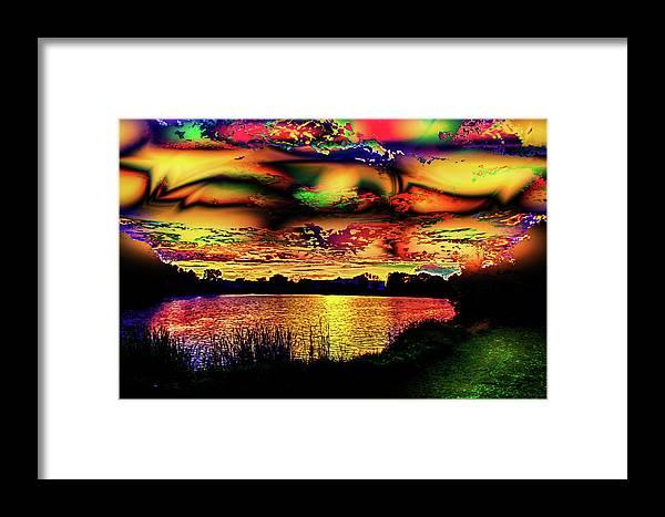 World's Framed Print featuring the digital art Alternative Cloud Design by Ron Fleishman