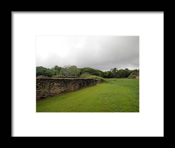 Ruins Framed Print featuring the photograph Altun Ha #1 by Lois Lepisto