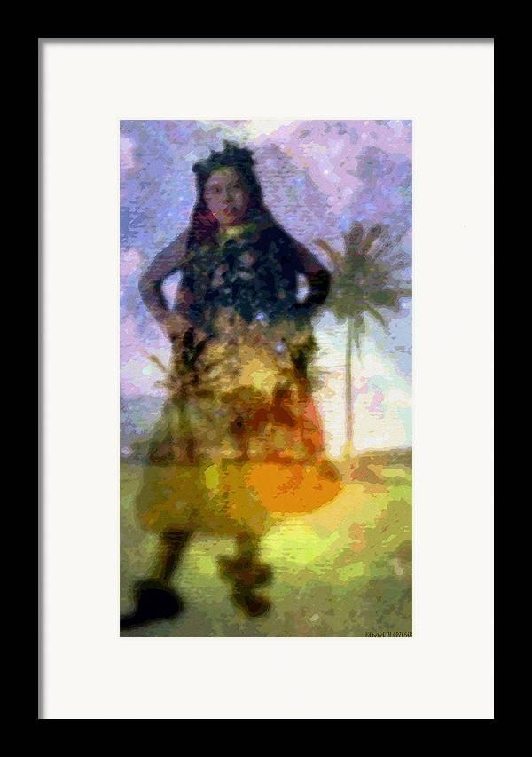 Tropical Interior Design Framed Print featuring the photograph Aluna Ahiahi Hula by Kenneth Grzesik