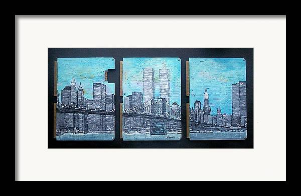 New York City Framed Print featuring the painting Always by Cary Singewald