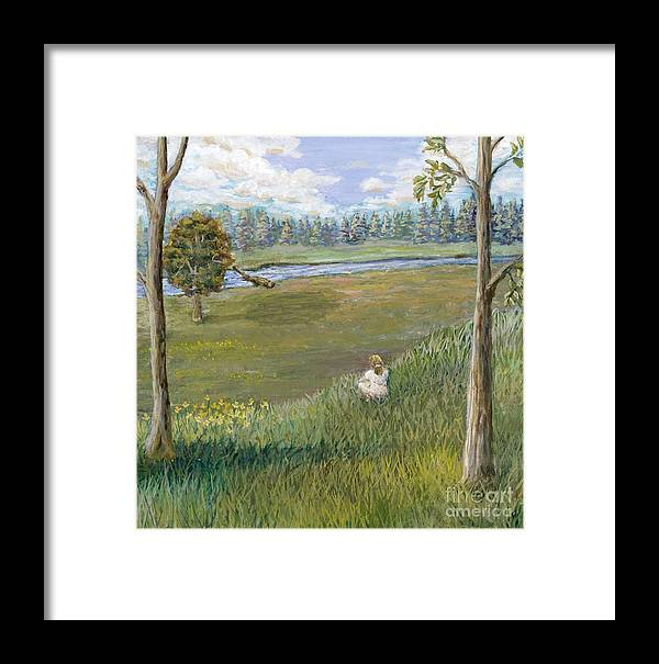 Landscape Framed Print featuring the painting Always Enough by Jiji Lee