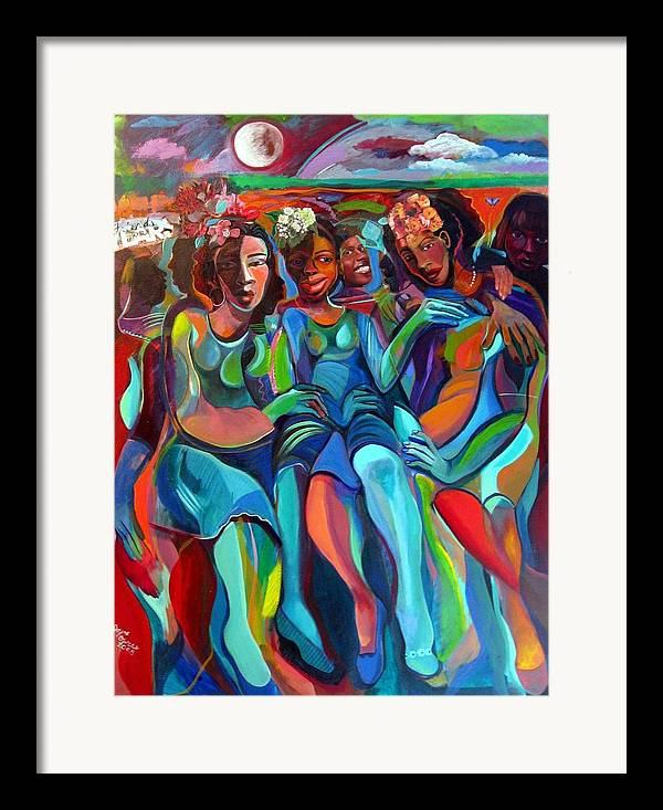 Women Framed Print featuring the painting Always by Joyce Owens