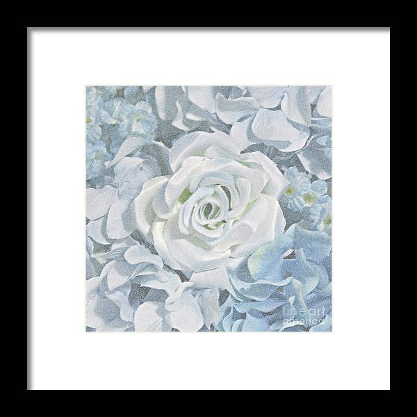 Flowers Framed Print featuring the photograph Always Stuck In The Middle by Sherry Hallemeier