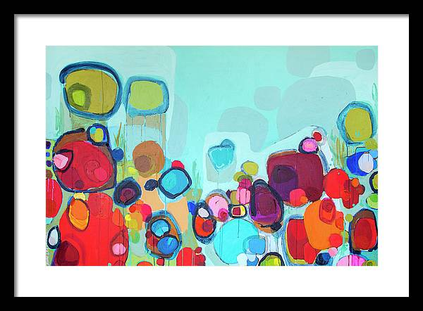 Abstract Framed Print featuring the painting Always Will Be by Claire Desjardins