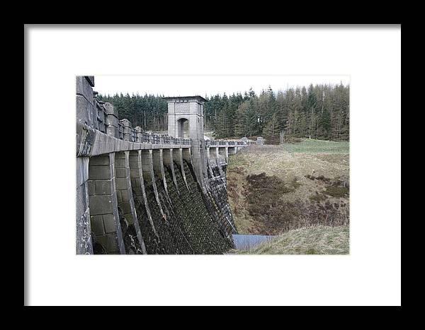 Dams Framed Print featuring the photograph Alwen Reservoir Dam by Christopher Rowlands