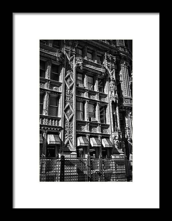Black Russian Framed Print featuring the photograph Alwyn Court Building Detail 14 by Val Black Russian Tourchin