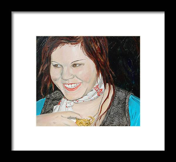 Kevin Callahan Framed Print featuring the painting Alyssa Smiles by Kevin Callahan