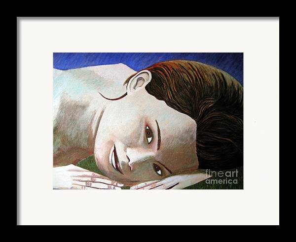 Identity (symbolic Art) Framed Print featuring the painting Am I My Body My Beauty by Tanni Koens