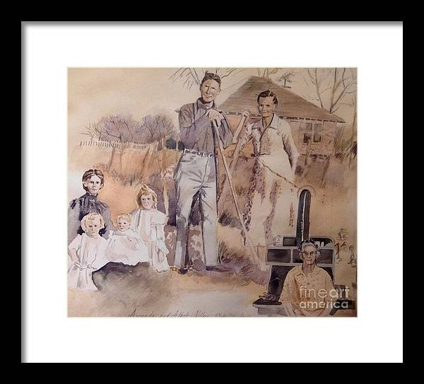 Vintage Framed Print featuring the painting Amanda And Athole Milne Collage by Diane Renchler