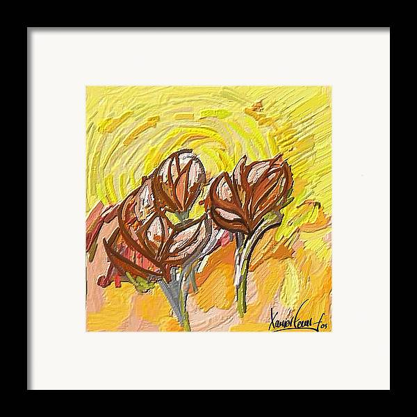 Figurative Framed Print featuring the painting Amapoles by Xavier Ferrer
