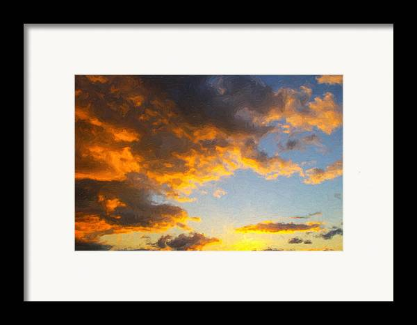 Dallas Framed Print featuring the painting Amarillo Golden Sunset by Jeff Steed