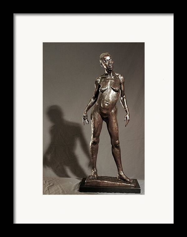 Bronze Sculpture Framed Print featuring the sculpture Amazing Grace by Dan Earle
