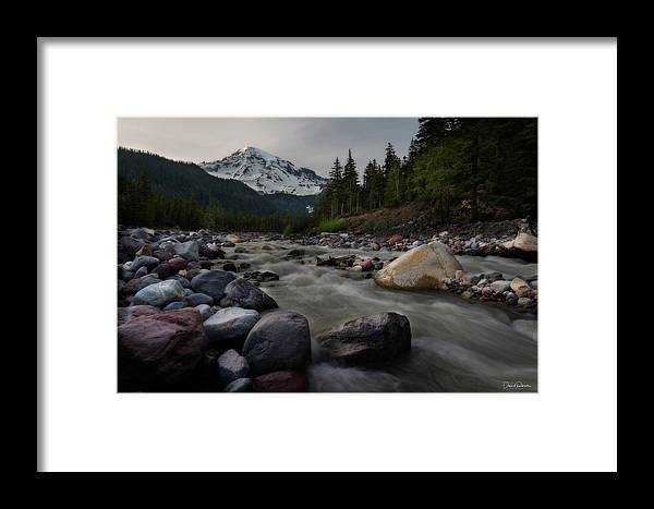 Mount Rainier Framed Print featuring the photograph Amazing Night by David Roberts