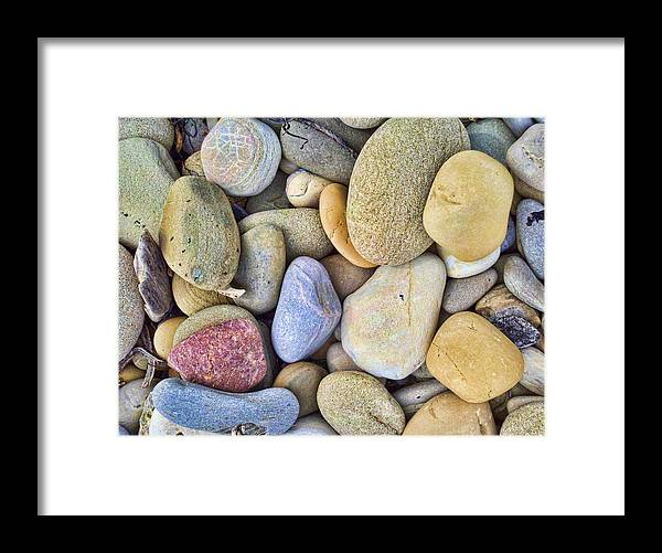 Pebbles Framed Print featuring the photograph Amazing Pebbles by Gina Cordova