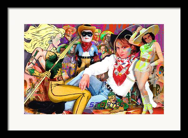 Painting Framed Print featuring the painting Amazing Stories by Robert Anderson