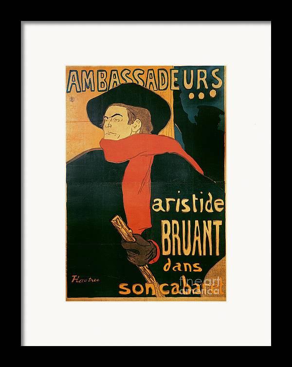 Henri De Toulouse-lautrec Framed Print featuring the painting Ambassadeurs by Henri de Toulouse-Lautrec
