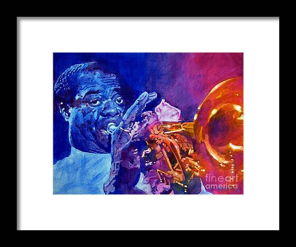 Jazz Framed Print featuring the painting Ambassador Of Jazz - Louis Armstrong by David Lloyd Glover