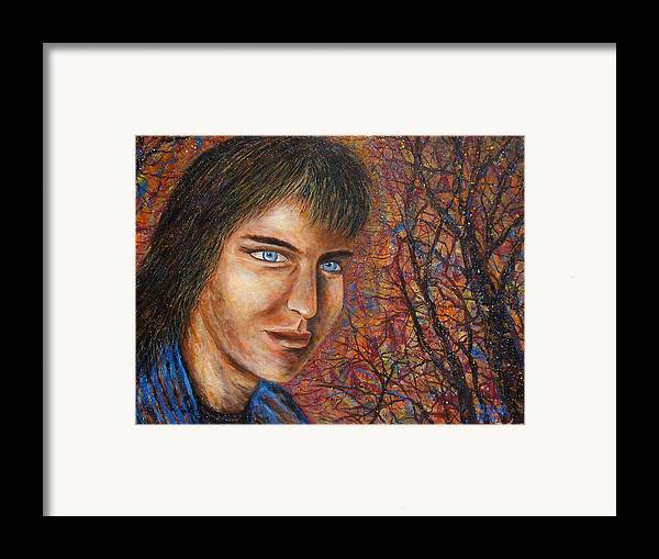 Colorful Autumn Framed Print featuring the painting Amber Glow by Natalie Holland