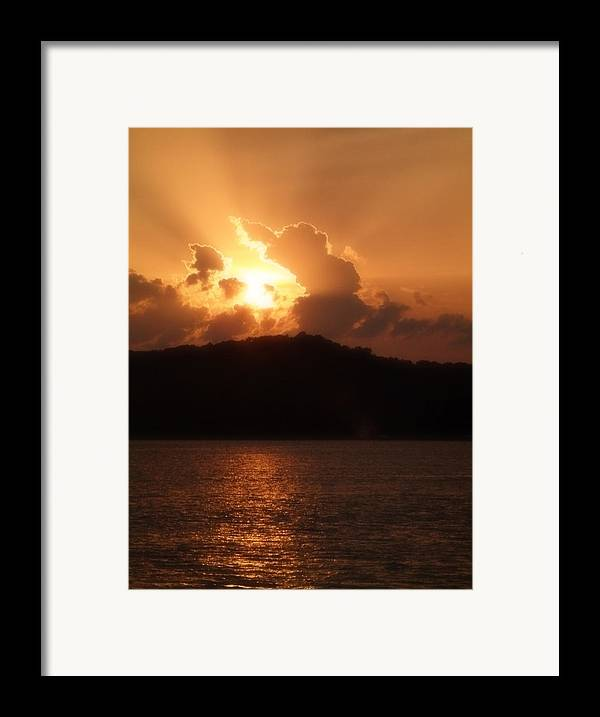 Sunset Framed Print featuring the photograph Amber Sun by Carl Perry