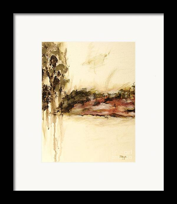 Abstract Framed Print featuring the painting Ambiguous by Itaya Lightbourne